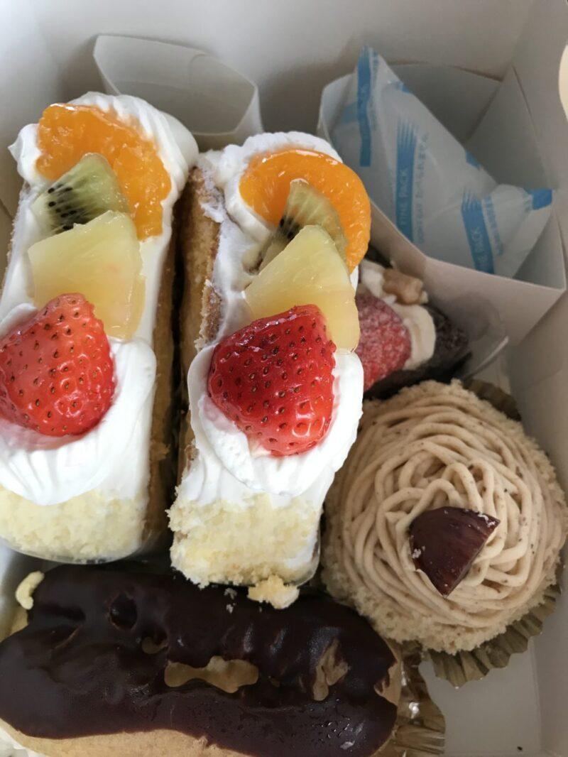 倉敷中庄ケーキ屋『ジェノワーズ』デカ過ぎロールケーキと牛乳プリン!