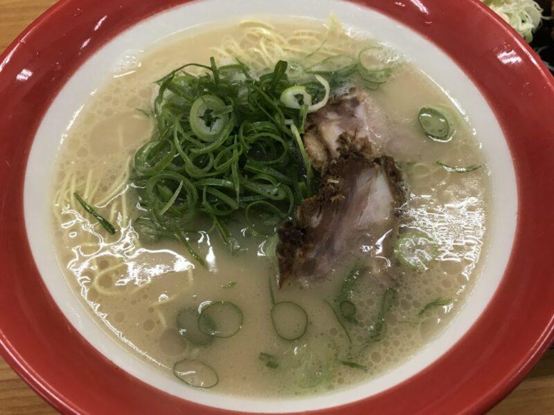岡山津島ラーメン屋『博多一番』長浜ラーメンと鶏の唐揚げ定食ランチ!