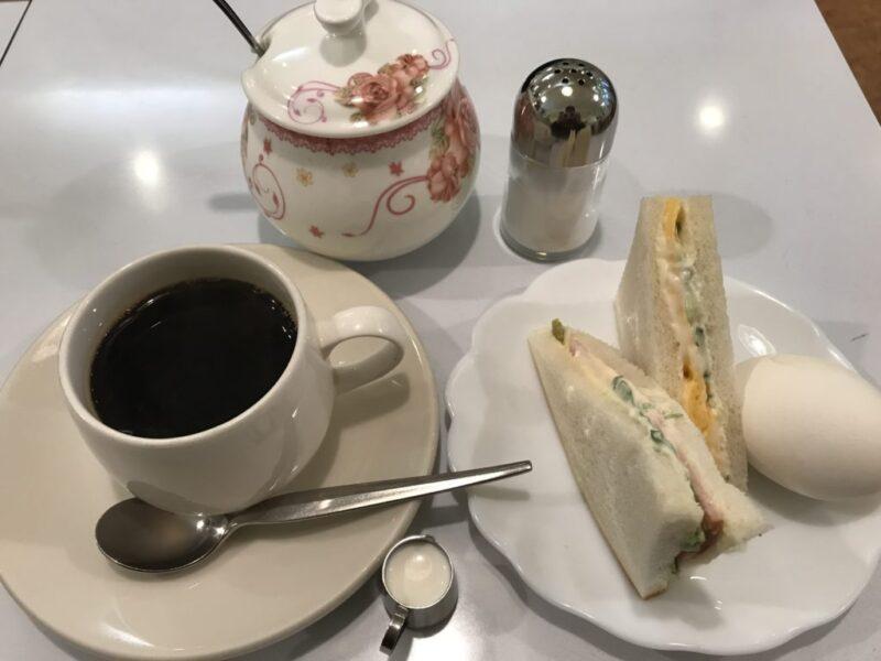 倉敷阿知『喫茶K』商店街のカフェテラスでサンドイッチ朝食モーニング!