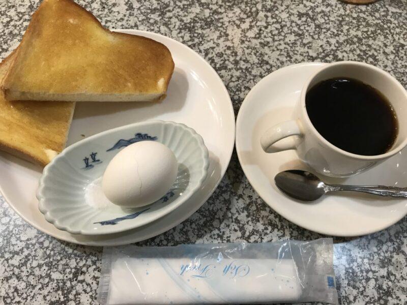 倉敷駅前カフェ『軽食喫茶モワ』昔ながらの朝食モーニングセット!