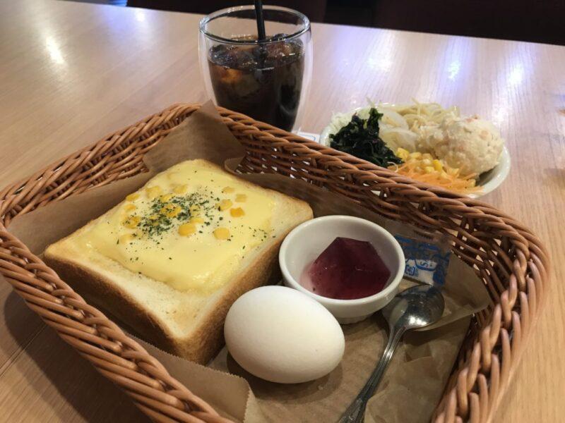 倉敷中庄『カフェ青山』サラダバーとフルーツタルトの朝食モーニング!