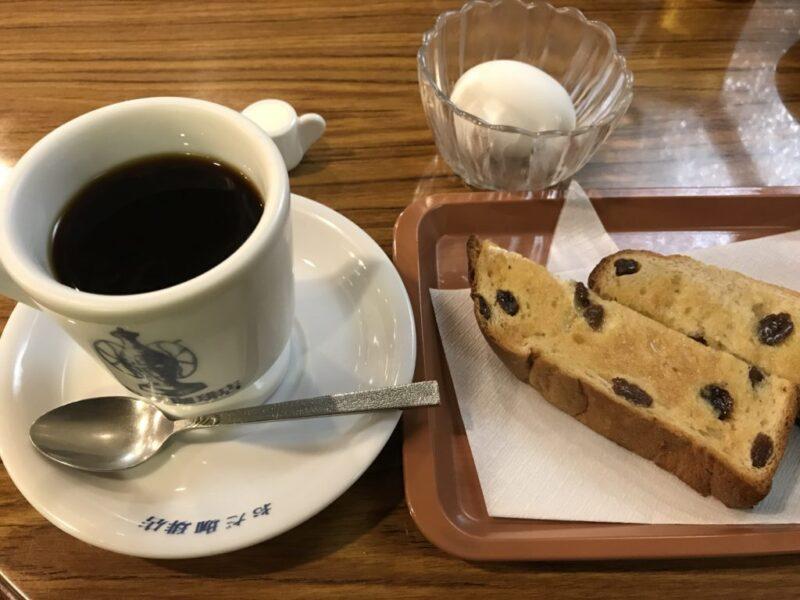 倉敷駅前の喫茶店『おだ珈琲店』ぶどうパンが美味しい朝食モーニング!