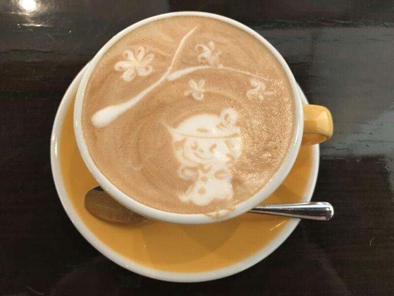 岡山本町カフェ『喫茶ほんまち』カプチーノのラテアートが可愛すぎる!