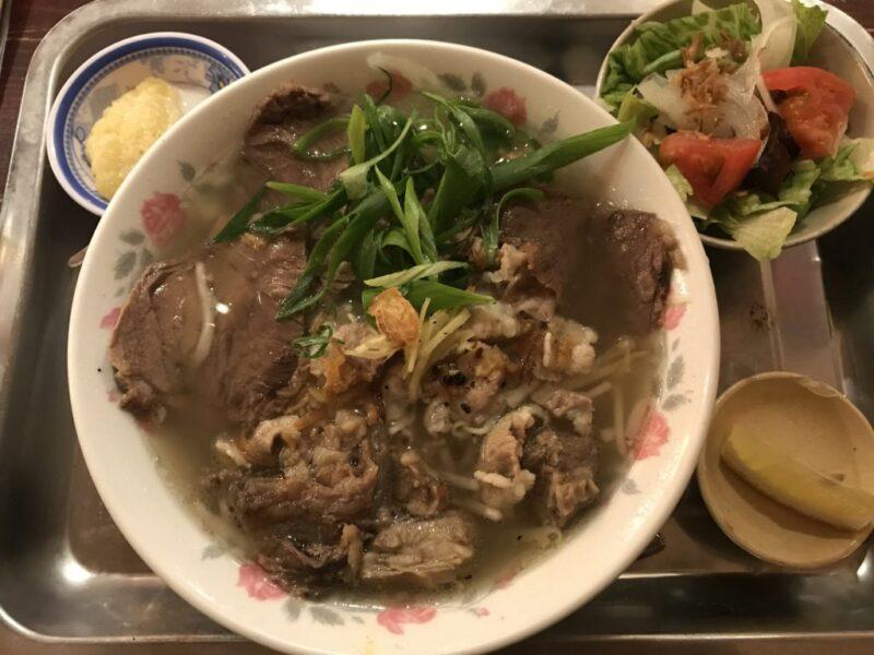 岡山本町『ベトナム料理店アオババ』牛肉3種類盛りフォーランチ!