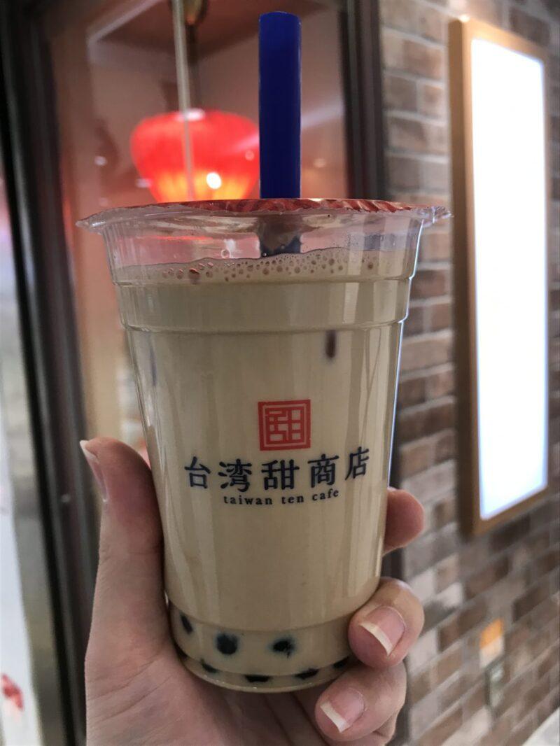 岡山駅一番街『台湾甜商店』生タピオカミルクティーがモチモチ過ぎる!