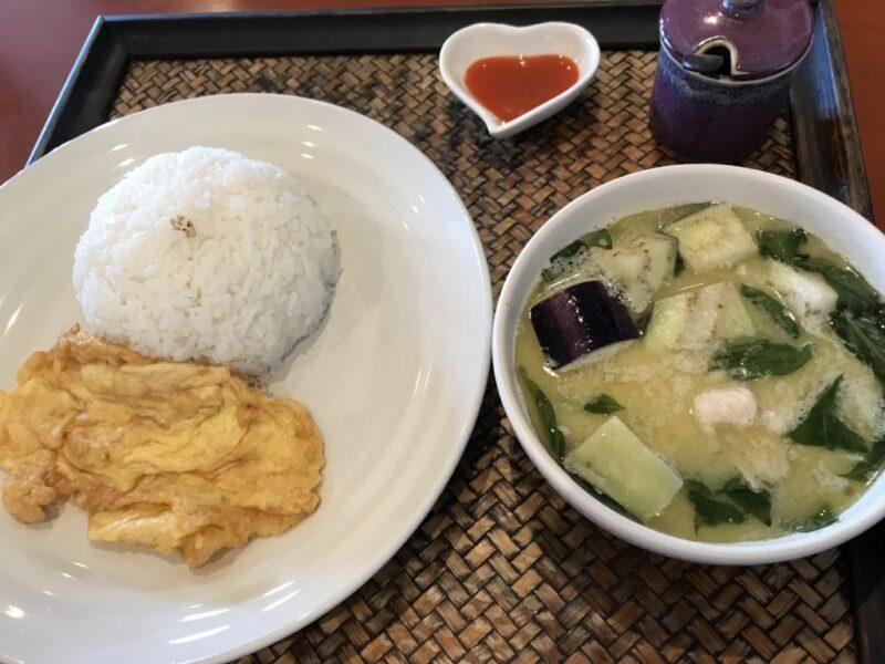 倉敷タイ料理『チャーンタイ』本格グリーンカレーとガパオライスランチ!