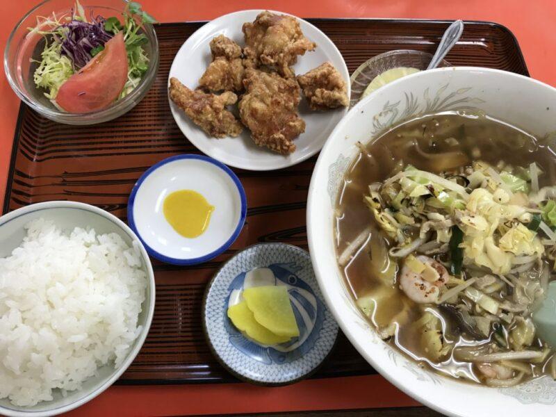 倉敷宮前『中華料理香雲』チャンポン麺の唐揚げ定食とチャーハンセット!