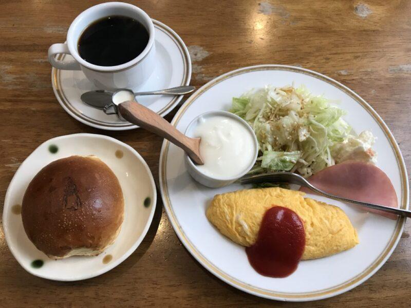 倉敷笹沖喫茶店『ふじわら』ブリオッシュとオムレツの朝食モーニング!
