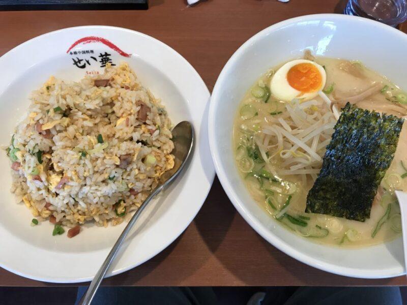 倉敷青江『本格中華料理せい華』ラーメン炒飯セットはランチがお得!