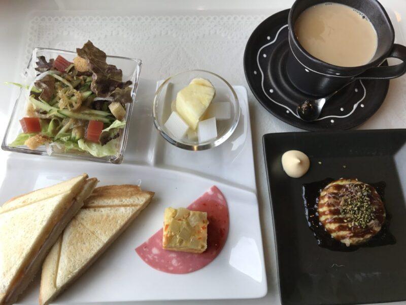 岡山高屋『カフェドゆう』健康朝食モーニングセットはお好み焼き!