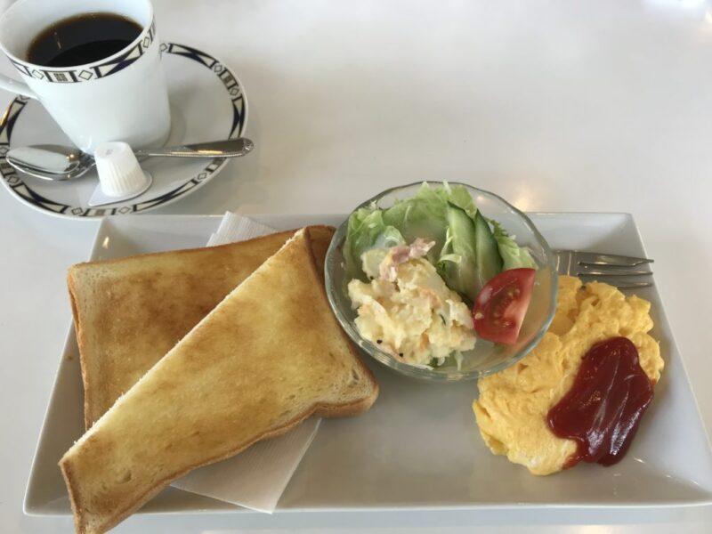 倉敷美術館カフェ『喫茶パレット』オムレツとポテサラの朝食モーニング!