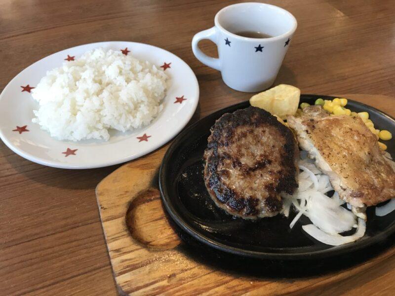 倉敷老松『ステーキのどん』ハンバーグでご飯とパン食べ放題ランチ!