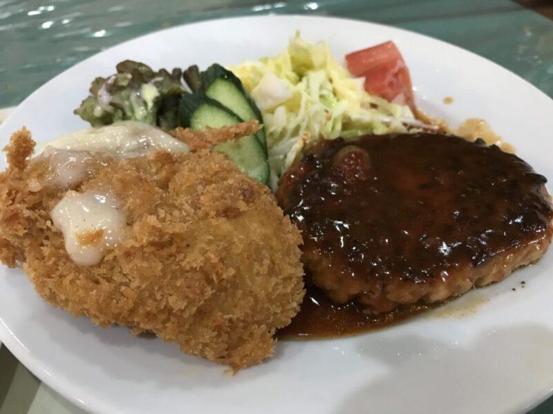 倉敷笹沖『レストラン山賊』ハンバーグとコロッケのサービスランチ!