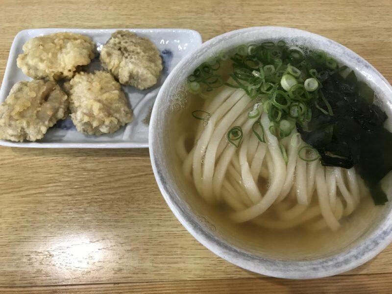 香川高松『手打ちうどんまつばら』麦蔵仕込みの肉汁たっぷりかしわ天!