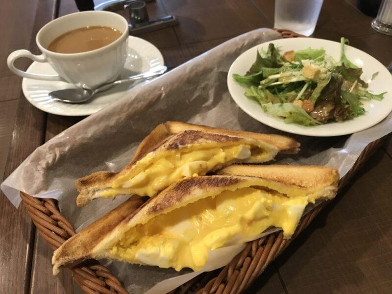 倉敷下庄『倉式珈琲店』選べる朝食モーニングのホットサンドが美味しい!