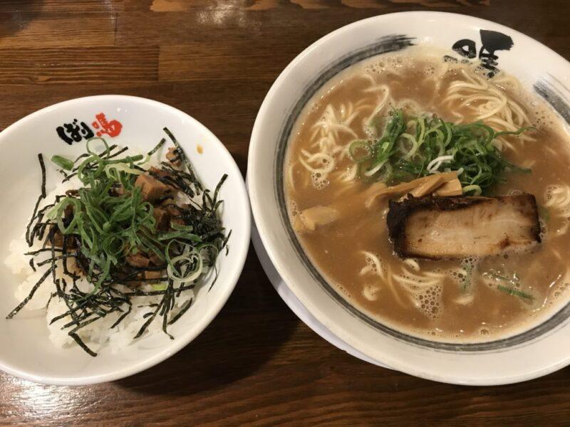 倉敷下庄『ばり馬』濃厚和歌山ラーメンとポテトや漬物食べ放題ランチ!