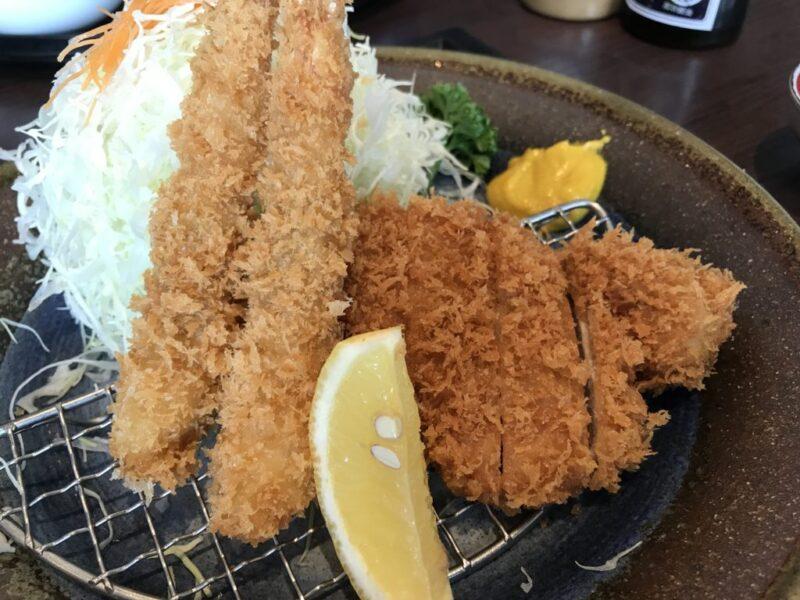 倉敷下庄『かつ泉』トンカツ海老フライランチでご飯とみそ汁食べ放題!