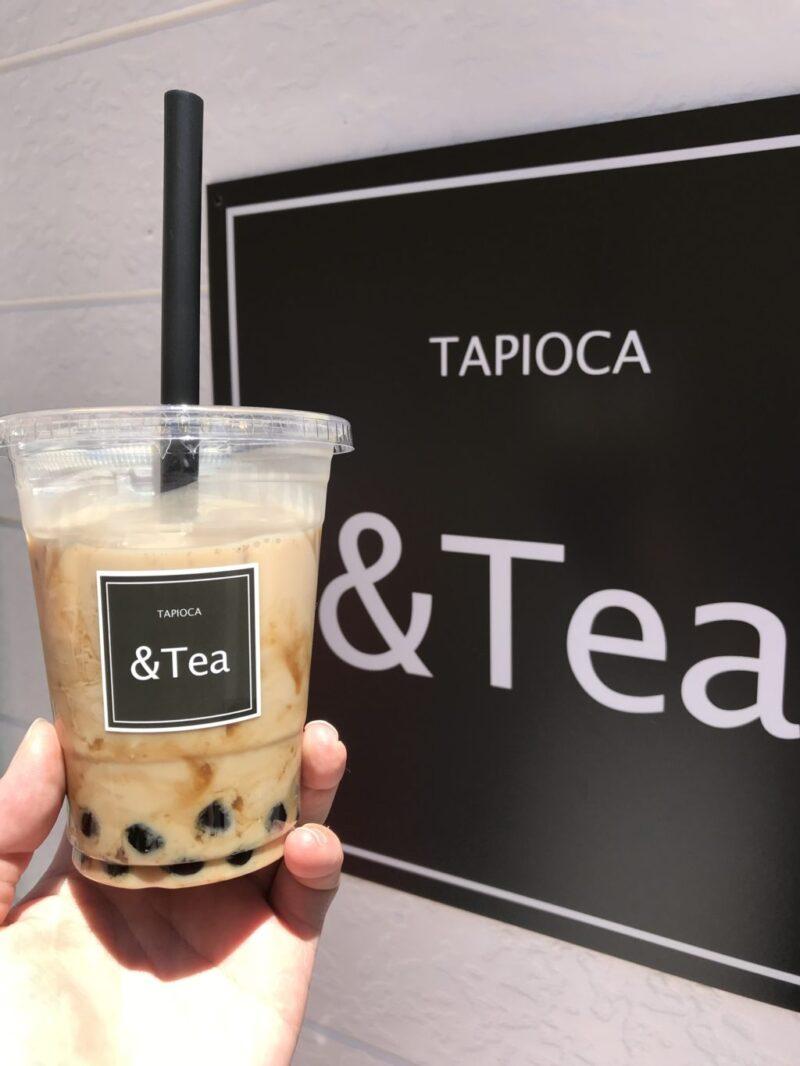 倉敷駅前『&Tea(アンドティー)』もちもち生タピオカミルクティー専門店!