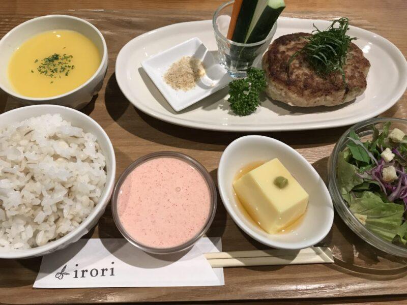 岡山問屋町『irori(イロリ)』紫蘇明太クリームハンバーグとロコモコ丼!