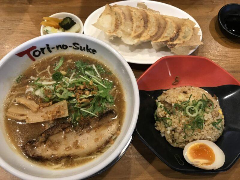 倉敷『とりの助』究極の鶏白湯ラーメン濃厚鶏そばとチャーハンランチ!