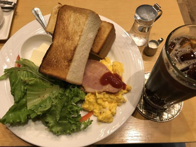 イオン倉敷『三河屋珈琲』厚切りトーストとベーコンの朝食モーニング!