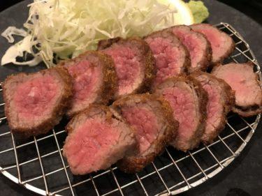 神戸三宮『牛かつ亭』デミグラスソースの厚切りレア牛カツでご飯おかわり!