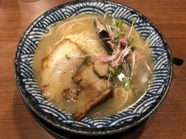 岡山本町『隠岐の島ラーメン』飛魚出汁と貝出汁の両方で替玉食べ放題!