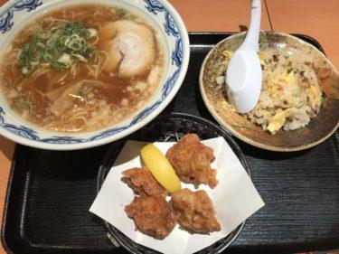 ゆめタウン倉敷『麺や食堂十馬力』背脂醤油ラーメンとチャーハンランチ!