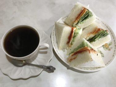 岡山さい『軽食喫茶ほら貝』超極厚の玉子サンドイッチ朝食モーニング!