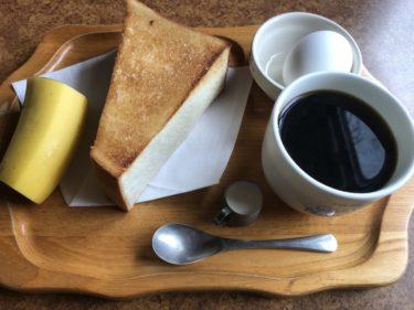 岡山上中野『カサブランカ』回転ドアがお出迎えの喫茶店で朝食モーニング!