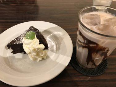 岡山本町『カフェモニ』ガトーショコラとチョコレートミルクであまーい!