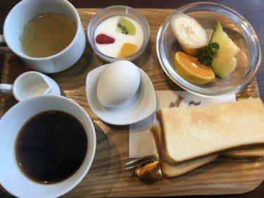 岡山西古松喫茶店『ドル珈琲』パンとフルーツヨーグルトの朝食モーニング!