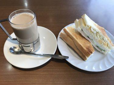 岡山厚生町『お好み焼きおぞの』朝はカフェオレとサンドイッチモーニング!