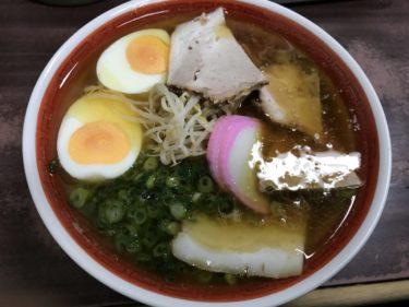 岡山の大行列ラーメン『天神そば』黄金の鶏ガラ醤油スープに一味唐辛子!
