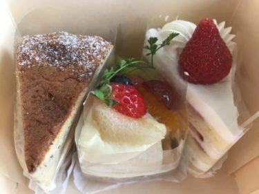 岡山西古松『カントリーケーキもりのくまさん』苺ショートとフルーツタルト!