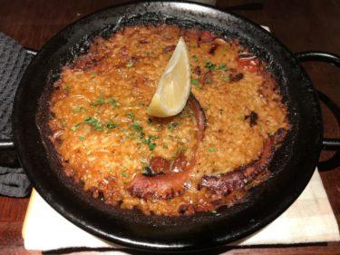 大阪梅田茶屋町『ミ・カシータ』スペイン料理店で海の幸パエリアランチ!