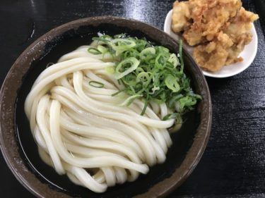 香川宇多津『セルフうどん麺太郎』染み染みおでんの大根と本場大分の鶏天!