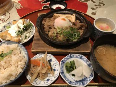 大阪梅田ヒルトンプラザ『虎連坊』牛すき煮豆腐で鯛めし食べ放題ランチ!