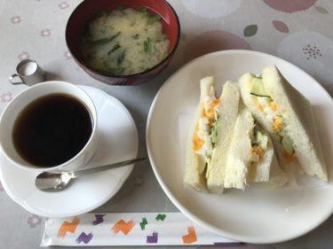 岡山喫茶店『グレース乙多見店』タマゴサンドイッチと味噌汁のモーニング!