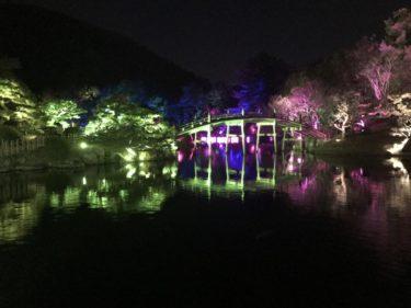 香川高松『チームラボ栗林公園光の祭』アートとテクノロジーの融合芸術だ!