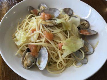 倉敷白楽町『マカロニ』華麗なる前菜盛り合わせと燻製鶏のパスタランチ!