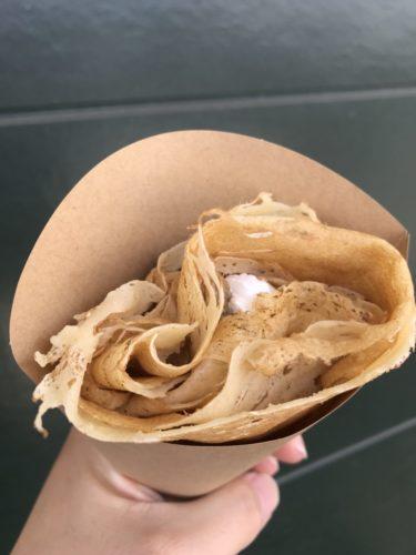 倉敷羽島『chaton(シャトン)』ラムレーズンとクリームチーズのクレープ!
