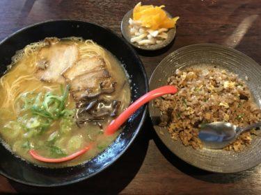 倉敷吉岡『麺処ど男(どだん)』とんこつ醤油ラーメンチャーハン餃子ランチ!