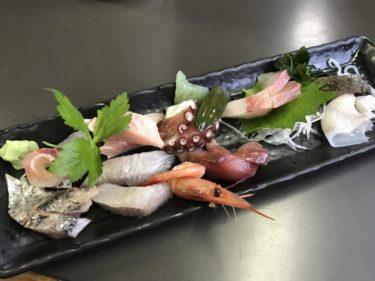 岡山泉田『海鮮料理びんび亭』サワラの塩焼き定食と新鮮なお刺身ランチ!