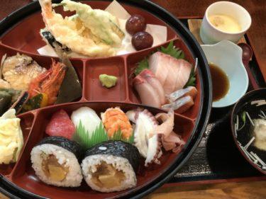 倉敷西阿知『千成寿司』カウンターで超豪華な寿司定食と海老天丼ランチ!