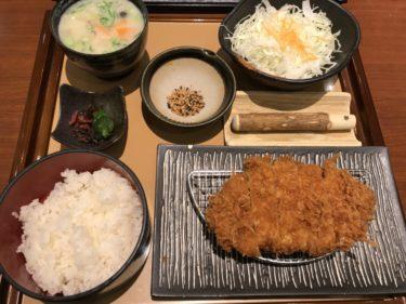 アリオ倉敷『かつぎ屋』ロースカツ定食豚汁セットとカキフライランチ!