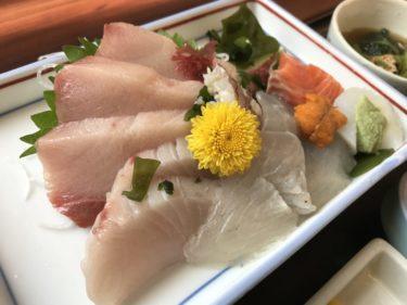 岡山桑田町『はまゆう』原田屋鮮魚店のサバの塩焼きと上刺身定食ランチ!