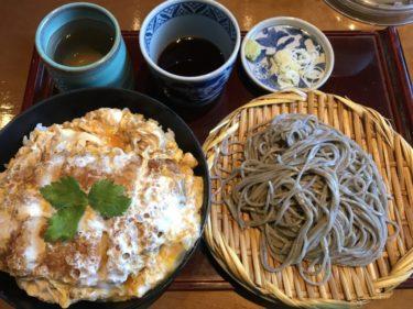 倉敷中庄『北前そば高田屋』お出汁香るカツ丼大盛と冷たいざるそばランチ!