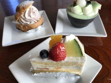 倉敷羽島『ケーキ茶屋和心』和を感じる大福シュークリームと抹茶ティラミス