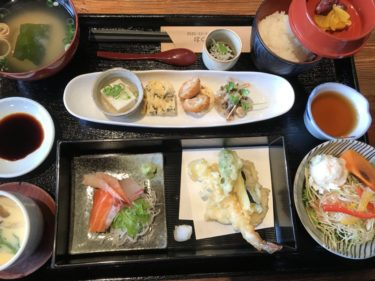岡山矢掛町『食工房つお』お刺身と天ぷらの和定食とトンカツ定食ランチ!